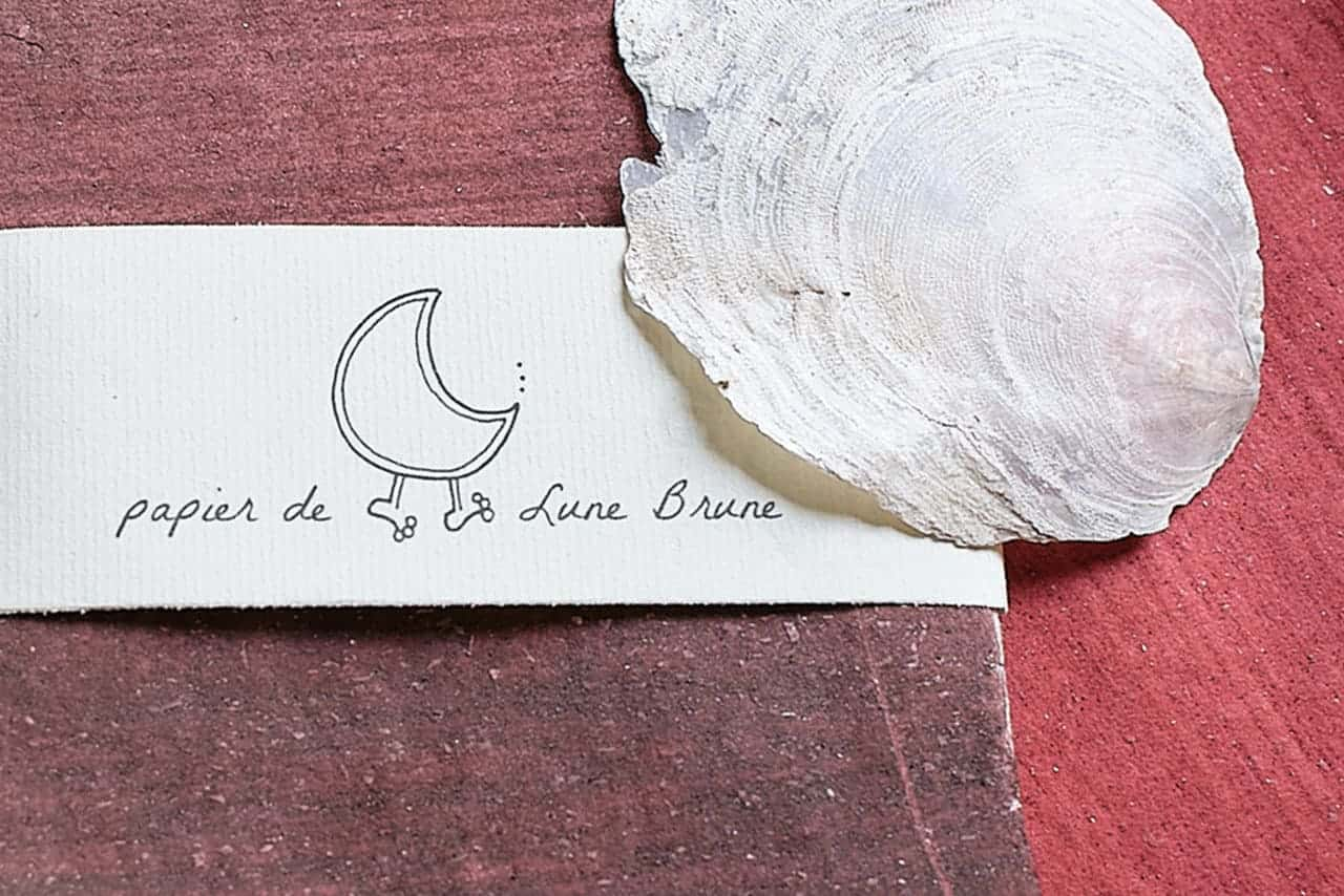 papier Lune Brune Papier Animé